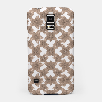 Thumbnail image of Stylized Leaves Floral Collage Samsung Case, Live Heroes