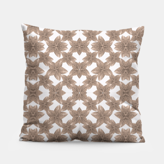 Thumbnail image of Stylized Leaves Floral Collage Pillow, Live Heroes