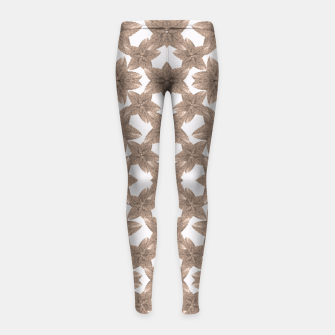 Thumbnail image of Stylized Leaves Floral Collage Girl's Leggings, Live Heroes