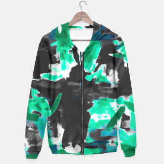 Thumbnail image of psychedelic vintage camouflage painting texture abstract in green and black Hoodie, Live Heroes