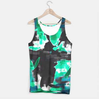 Thumbnail image of psychedelic vintage camouflage painting texture abstract in green and black Tank Top, Live Heroes
