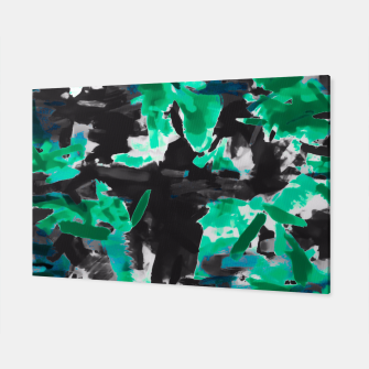 Thumbnail image of psychedelic vintage camouflage painting texture abstract in green and black Canvas, Live Heroes