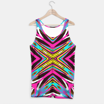 Thumbnail image of psychedelic geometric graffiti abstract pattern in pink blue yellow brown Tank Top, Live Heroes
