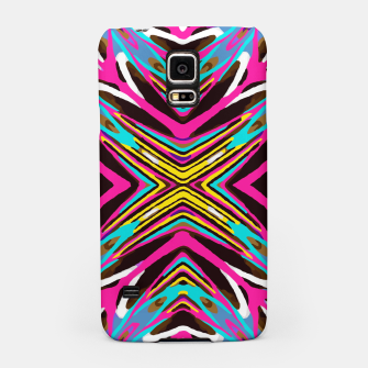 Thumbnail image of psychedelic geometric graffiti abstract pattern in pink blue yellow brown Samsung Case, Live Heroes