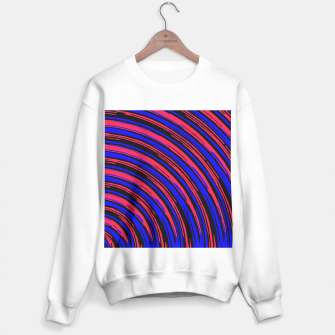 Thumbnail image of graffiti line drawing abstract pattern in red blue and black Sweater regular, Live Heroes