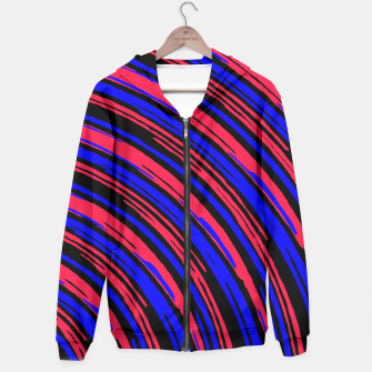 Thumbnail image of graffiti line drawing abstract pattern in red blue and black Hoodie, Live Heroes