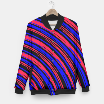 Thumbnail image of graffiti line drawing abstract pattern in red blue and black Baseball Jacket, Live Heroes