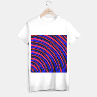 Thumbnail image of graffiti line drawing abstract pattern in red blue and black T-shirt regular, Live Heroes