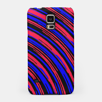 Thumbnail image of graffiti line drawing abstract pattern in red blue and black Samsung Case, Live Heroes
