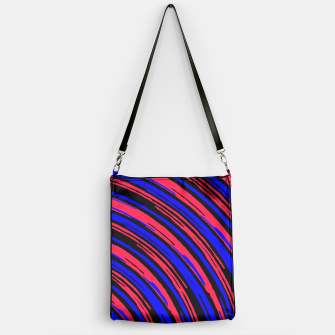 Thumbnail image of graffiti line drawing abstract pattern in red blue and black Handbag, Live Heroes