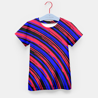 Thumbnail image of graffiti line drawing abstract pattern in red blue and black Kid's T-shirt, Live Heroes