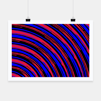 Thumbnail image of graffiti line drawing abstract pattern in red blue and black Poster, Live Heroes