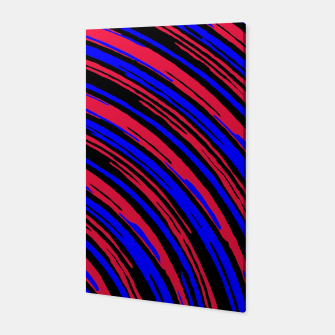 Thumbnail image of graffiti line drawing abstract pattern in red blue and black Canvas, Live Heroes