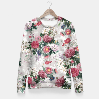 Thumbnail image of Beautiful Flowers Fitted Waist Sweater, Live Heroes