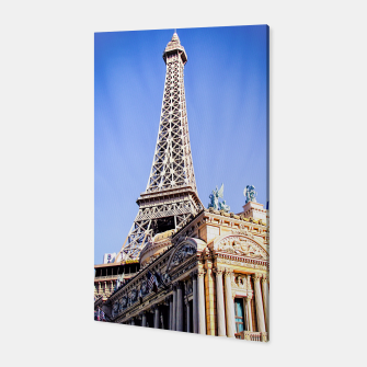 Thumbnail image of Eiffel tower at Las Vegas, USA with blue sky Canvas, Live Heroes