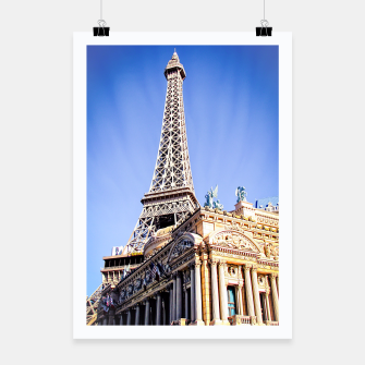 Thumbnail image of Eiffel tower at Las Vegas, USA with blue sky Poster, Live Heroes
