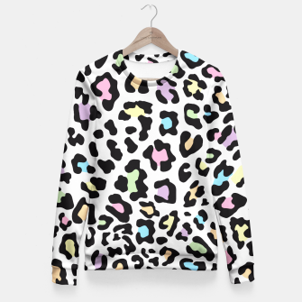 Thumbnail image of Colorful Leopard Print  Fitted Waist Sweater, Live Heroes