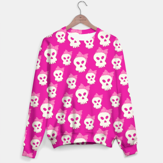Thumbnail image of Girly Skulls Sweater, Live Heroes