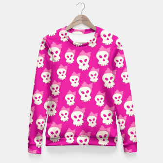 Thumbnail image of Girly Skulls Fitted Waist Sweater, Live Heroes