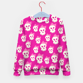 Thumbnail image of Girly Skulls Kid's Sweater, Live Heroes