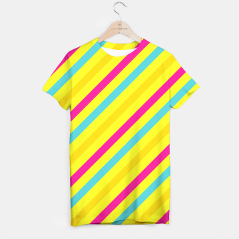 Thumbnail image of Cheerful Stripes T-shirt, Live Heroes