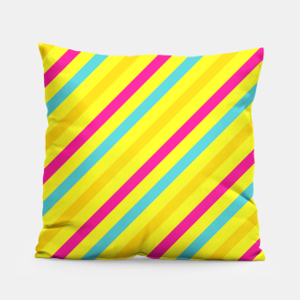 Thumbnail image of Cheerful Stripes Pillow, Live Heroes