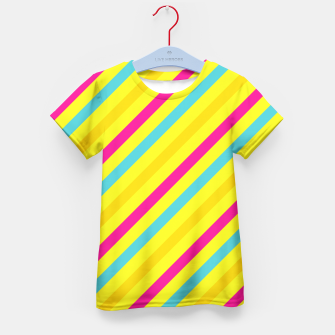 Thumbnail image of Cheerful Stripes Kid's T-shirt, Live Heroes