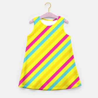 Thumbnail image of Cheerful Stripes Girl's Summer Dress, Live Heroes