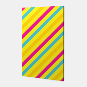 Thumbnail image of Cheerful Stripes Canvas, Live Heroes