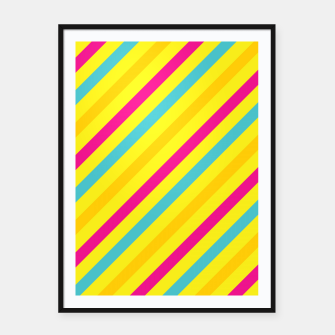 Thumbnail image of Cheerful Stripes Framed poster, Live Heroes