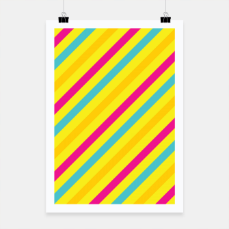 Thumbnail image of Cheerful Stripes Poster, Live Heroes