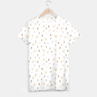 Miniatur Insects Pattern T-shirt, Live Heroes