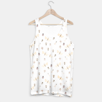 Miniatur Insects Pattern Tank Top, Live Heroes