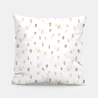 Miniatur Insects Pattern Pillow, Live Heroes
