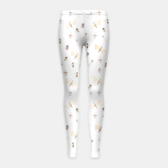 Thumbnail image of Insects Pattern Girl's Leggings, Live Heroes