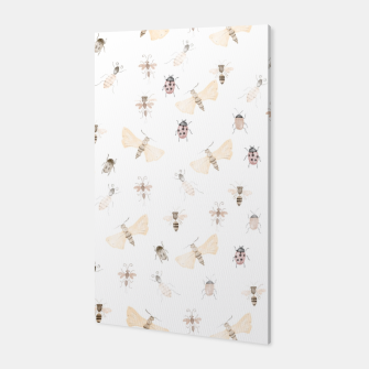 Miniatur Insects Pattern Canvas, Live Heroes