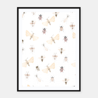 Miniatur Insects Pattern Framed poster, Live Heroes