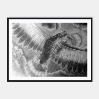 Thumbnail image of Eagle Framed poster, Live Heroes