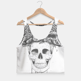 Thumbnail image of Skull with flowers Crop Top, Live Heroes