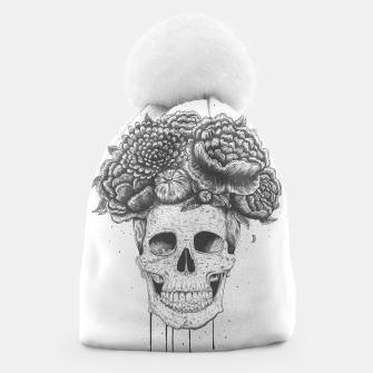 Thumbnail image of Skull with flowers Beanie, Live Heroes