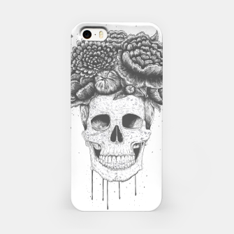 Thumbnail image of Skull with flowers iPhone Case, Live Heroes