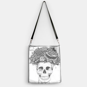 Thumbnail image of Skull with flowers Handbag, Live Heroes