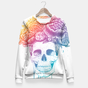 Thumbnail image of Colorful skull Fitted Waist Sweater, Live Heroes