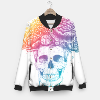 Thumbnail image of Colorful skull Baseball Jacket, Live Heroes