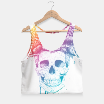 Thumbnail image of Colorful skull Crop Top, Live Heroes