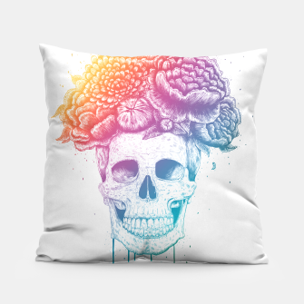 Thumbnail image of Colorful skull Pillow, Live Heroes