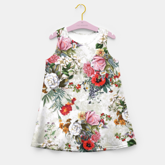 Thumbnail image of Botanical Flowers IV Girl's Summer Dress, Live Heroes