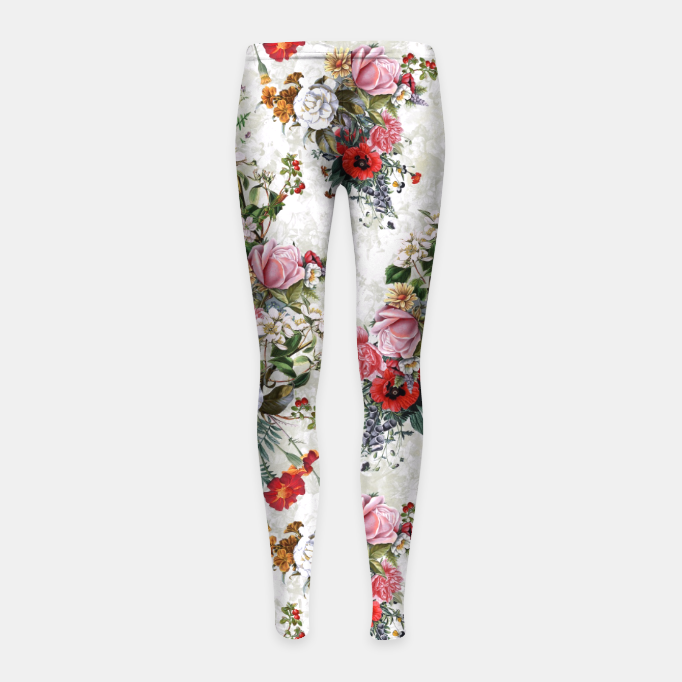 Image of Botanical Flowers IV Girl's Leggings - Live Heroes