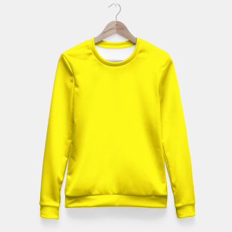 Thumbnail image of Canary Yellow Fitted Waist Sweater, Live Heroes