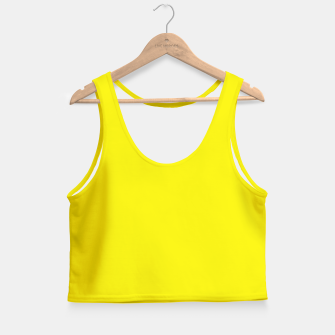 Thumbnail image of Canary Yellow Crop Top, Live Heroes